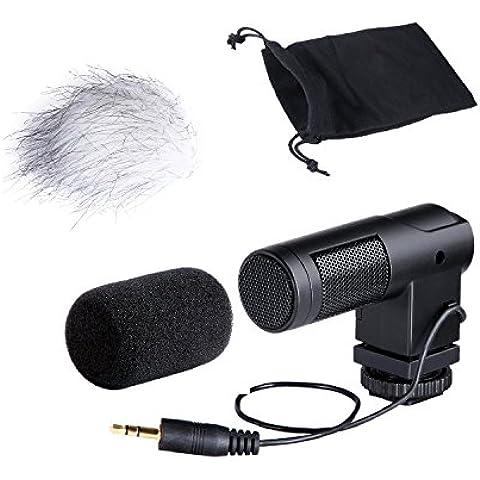 Movo Photo VXR260 Mini X/Y Micrófono Estereofónico de Condensador para DSLR Cámaras de Video