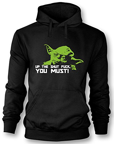 Angry Shirts Up the shut Fuck you must - Herren Hoodie in Größe ()