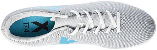 adidas Herren X 17.4 in Fußballschuhe Weiß (Footwear White/Energy Blue/Clear Grey)