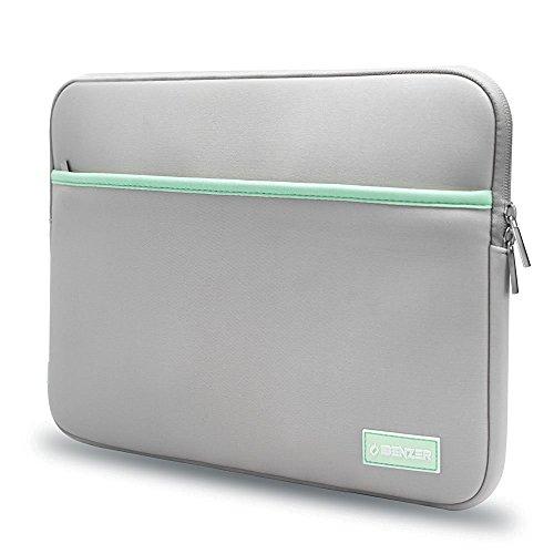 ibenzer–Deluxe Laptop Sleeve Tasche für MacBook Multi Modelle grau grau 33-33,8 cm (Fleece-zubehör Deluxe)