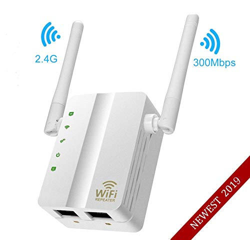 MSDADA WLAN Repeater, WLAN Range Extender,WI-Fi Mini Router WLAN Repeater Wireless Access Point/WiFi Signalverstärker AP Signal Booster(300 Mbps,2,4 GHz IEEE802.11n/g/b mit WPS) EU-Stecker-Weiß