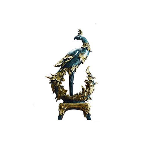Wham Moon Escultura Estatuilla Estatua Adorno Artesanía, Resina de Phoenix Escultura Regalos...