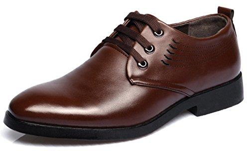 HYLM Scarpe casuali di affari di Scarpe da uomo degli uomini di grandi dimensioni traspiranti e scarpe da sposa brown tie ups
