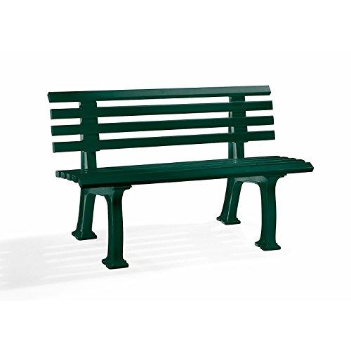 Parkbank aus Kunststoff – mit 9 Leisten – Breite 1500 mm, moosgrün – Bank Bank aus Holz, Metall, Kunststoff Bänke aus Holz, Metall, Kunststoff Gartenbank Kunststoff-Bank Kunststoff-Bänke Ruhebank - 3