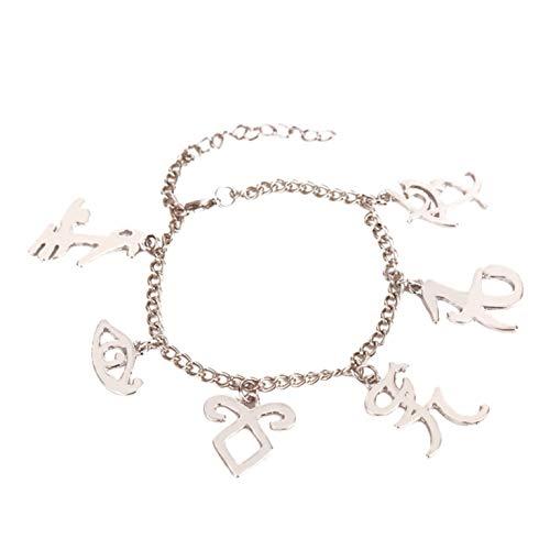 Tonglisen Letras de Moda,brazaletes de Plata,joyería,Oro Neutral,joyería de Pulsera,Regalo Caliente.(None G1011)