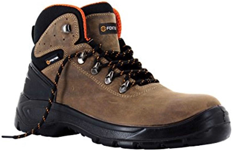 Zapatillas de seguridad alta S3 Scorpion, castañas