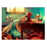 ayuxin Princess Fantasy Fairy Diy Crystal Full Drill Square Diamond Painting 3D Cross Stitch Kit Mosaic Round Rhinestone