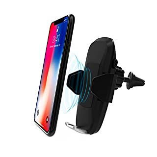 Wireless Car Charger, QI Fast Wireless Charger Car Mount with USB C Port Function Air Vent Holder for Samsung Galaxy S8 S8 Plus S7/ S7 Edge/ S6 Edge, iPhone 8/ 8 Plus/ X and Other Qi-enabled Devices