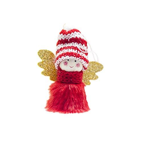 VEMOW Weihnachten Deko Angel Girl Handgemachte Angel mit Zipfelmütze Weihnachtsfigur Mini süß Plüsch Angel Girl für Kinder Familie Weihnachten Freunde