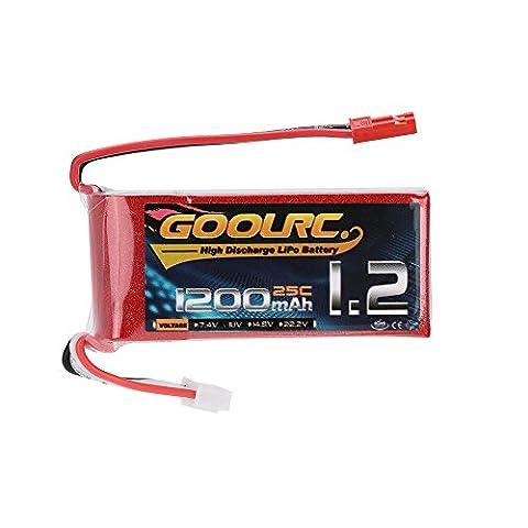 GoolRC 3S 11.1V 1200mAh 25C LiPo Batterie avec JST Prise pour RC Hélicoptère H250 280 300 Quadcopter