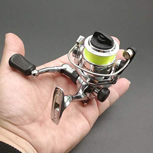 Sunshien Mini Full Metal Body Ultra-Glatte und leichte Spinnrolle mit Links/rechts austauschbarem Klappgriff für das Hochseefischen im Süßwasser