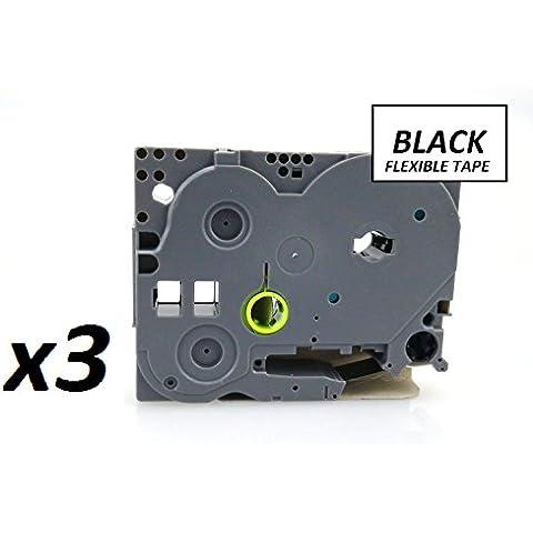 3 x Kate con plastificado cinta adhesiva para OFFICE Partner PT-1000, dBA hardware-pantalla táctil H101C, PT-2030VP, PT-2730VP, PT-3600, pt-9600. Todos los 8 m de largo. Anchos 6 mm, 9 mm, de 30 mm, 18 mm, 24 mm, 36 mm, ALL colors disponible en. - de tinta para impresoras Canon COMPATIBLE con a la batería Nikon en variedad de para ver, color 12mm BLACK ON FLEXIBLE YELLOW TZe-FX631 x3