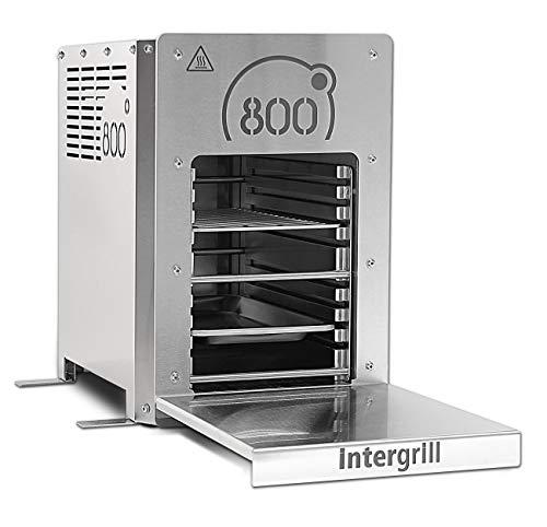 intergrill 800° elektrogrill Indoor Quarzbrenner Hochleistungsgrill Oberhitzegrill Tischgrill Edelstahl inkl. Grillrost Gastroschale (Elektro)