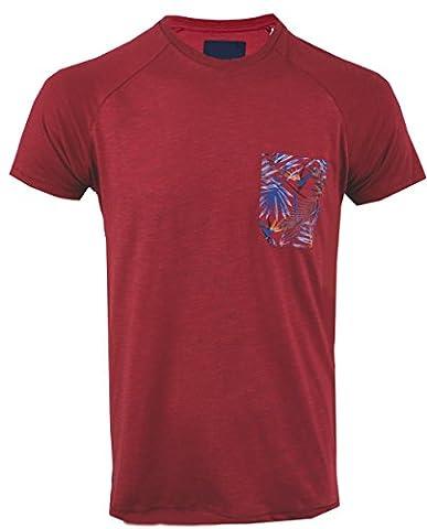 Threadbare Mens Manteca Pocket Tee Brick Red