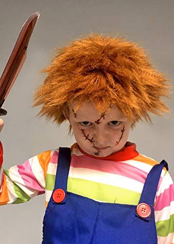 (Magic Box Int. Kinder Chucky Style Messy Ingwer Perücke)
