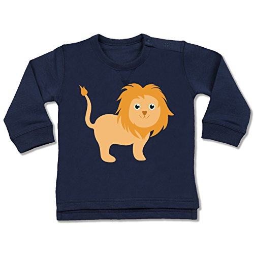 Shirtracer Tiermotive Baby - Süßer Löwe - 18-24 Monate - Navy Blau - BZ31 - Baby Pullover - 54 In Pullover