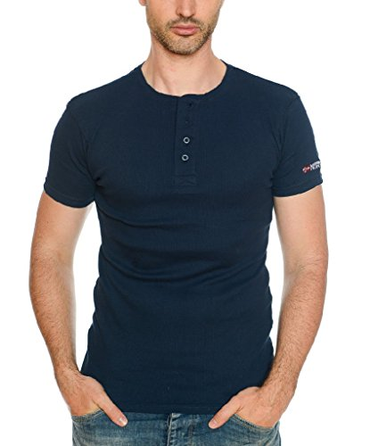 Geographical Norway Herren Ripp T-Shirt JASLO MEN Navy