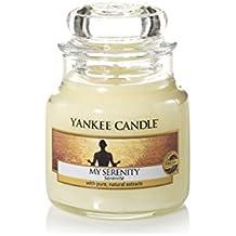 Yankee Candle 1507700E Candela Profumata Giara Piccola, Fragranza Mia Serenità, 104 gr, Vetro, Giallo, 6.4 x 6.0 x 5.5 cm