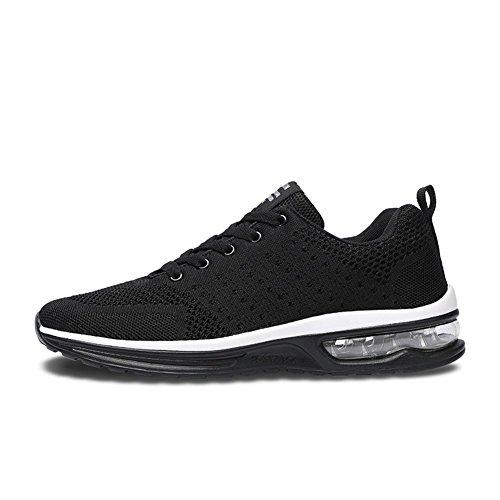 Fexkean Herren Damen Sneaker Laufschuhe Sportschuhe Air Leicht WalkingSchuhe Running Turnschuhe Shoes(5066BK46)