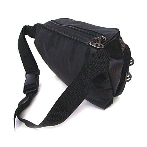 B077nuevo Pasaporte Fanny de la cintura paquetes de bolsa de viaje bolsa de deporte riñonera Negro negro B type