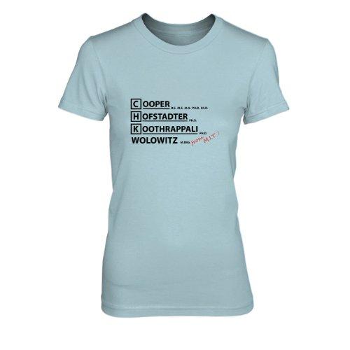 TBBT: From MIT - Damen T-Shirt Hellblau