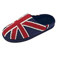 Dunlop Mens Ace British Union Jack USA Stars & Stripes Slipper Mule