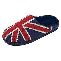 Dunlop Mens Ace British Union Jack USA Stars & Stripes Slipper Mule