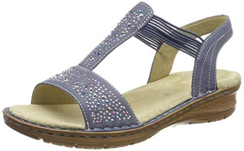 price reduced reasonably priced good out x ara Hawaii 1237205, Sandalias con Tira Vertical para Mujer, Azul (Jeans  75), 39 EU