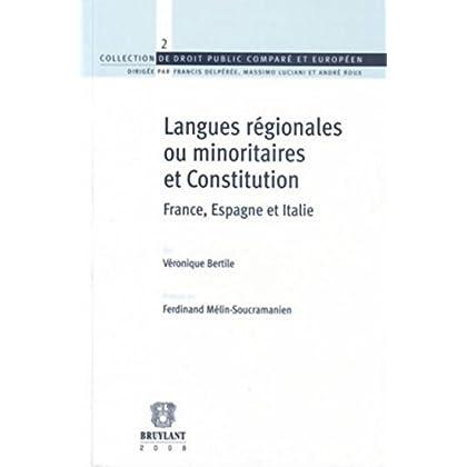 Langues régionales ou minoritaires. Constitution: