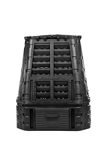 myGardenlust Komposter - Schnellkomposter aus Kunststoff - Thermokomposter als praktisches Stecksystem - Kompostierer stabil und hochwertig - Composter für Garten-Abfälle Schwarz | 650L