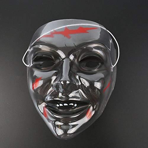 Z&J Halloween Karnevalsmaske Cosplay Plastikmaske Halloween Transparente Maske,männlich,22 * 24