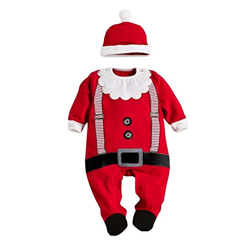 Weihnachtsmann Overall + Hut Set (Safari-outfit Für Kleinkinder)
