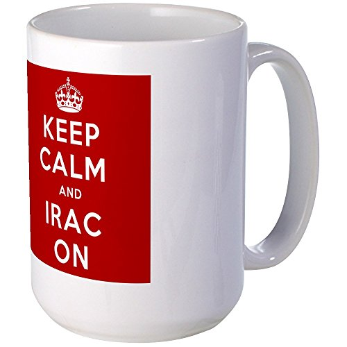 CafePress - Keep Calm And IRAC On Large Mug - Coffee Mug, Large 15 oz. White Coffee Cup by CafePress
