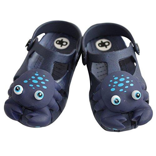 Diapolo Pattine cancro bambini ciabatte infradito sandali Chill, blu scuro,