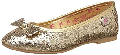 Barbie Girl's Golden Espadrille Flats - 12 kids UK/India (31 EU)