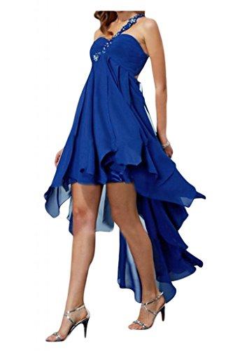 Toscana sposa lieb Rueckenfrei Hi-Lo Ling Chiffon stanotte vestimento per damigella Party ball vestimento Blu Royal