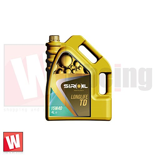 Siroil Long Life TD 15W40 4lt Olio Multifunzionale per Motori Dies