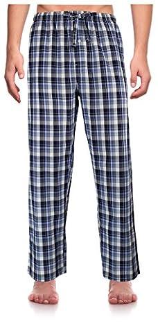 RK Classical Sleepwear Men's Woven Lounge Pants Pyjamas, Size