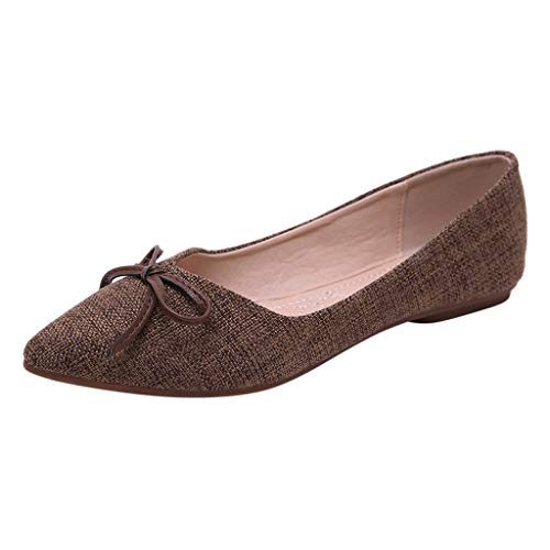 Makefortune 2019 Spring Single Schuhe Bow Soft Bottom Shallow Mouth Flat ShoesSingle Shoes Wild Ladies Bow Slingback