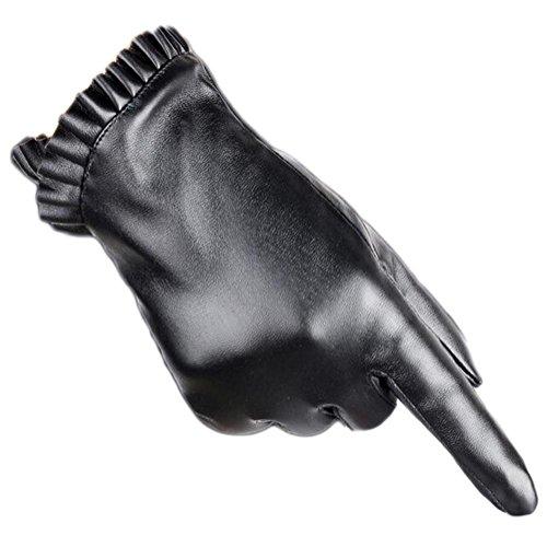 Inverno caldo guanti da donna pu ecopelle mittens touch screen inverno guanti texting smartphone