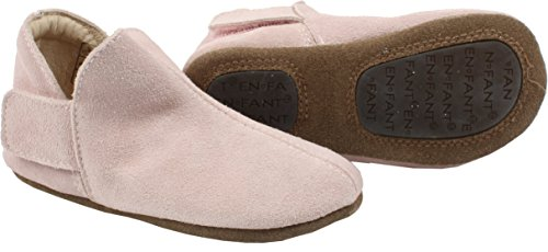 EN FANT Adventure Slipper Suede, Chaussons fille Rose - Pink (Rose 10)