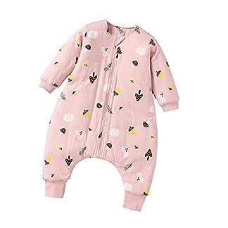 QFYD FDEYL Saco de Dormir para bebé de Invierno,Ropa de algodón Fina para bebés, Saco de Dormir de piernas de bebé de Invierno-Polvo_100 Yardas, Bolsa de Dormir de Bebé de Mangas Largas
