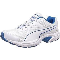 Puma Men's White and Electric Blue, Lemonade Running Shoes - 9 UK/India (43 EU)