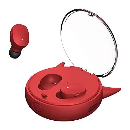 chlliacrow I12 TWS Bluetooth-Headset 5.0 Ohr Super Mini Zum Ohr Stereo Mit Ladefach Drahtlose Sportkopfhörer Drahtloses Bluetooth 5.0 In-Ear-Kopfhörer Mimi Sports Earbud mit Ladekiste Red