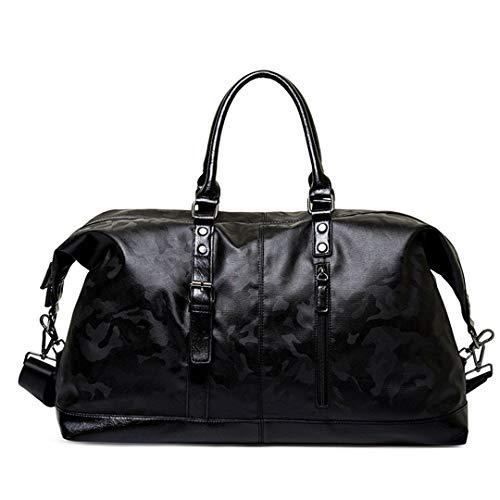 Camo Canvas Tote Bag (Männer Boston Reisetasche PU Leder Herren Handtaschen Big Tote Handgepäck Weekend Bag Crossbady Taschen Camo)