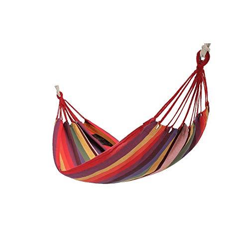 Qiaoxianpo01 Hängematte, schmutziger und bequemer Schlafsack im Freien, einzelne Schwingseil-Schlafzimmer-hängender Stuhl-Schlafsaal-Studenten, die Netz hängen Zwei Farben können wählen, blau, rot (Blau-schlafzimmer-hängematten)