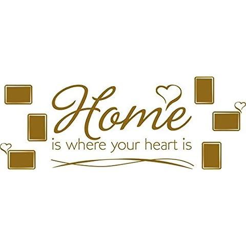 Tatuaje Marcos fotográficos de hogar es donde está el corazón diciendo Living (150x57cm // 092