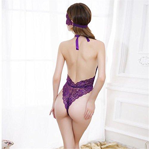 �?Loveso �?Damen Unterwäsche Frauen Charming Dessous Open Brust Unterwäsche Violett