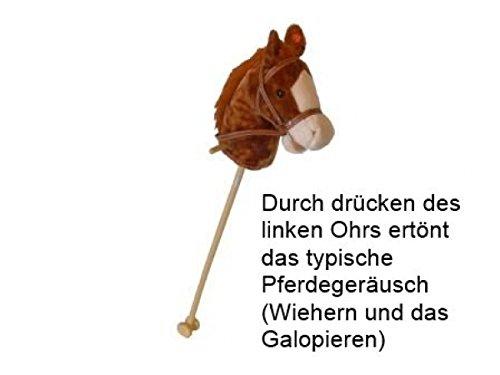 Braunes Steckenpferd Slh 2111 - Stabpferd - Holz-Kinderpferd - Wiehergeräusch -