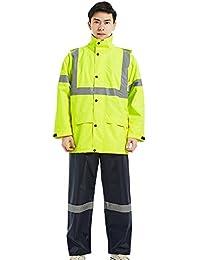 Icegrey Hi Viz Veste et Pantalon De Pluie Pour Homme Manteau De Sécurité Vêtements De Travail Veste et Pantalon Imperméable